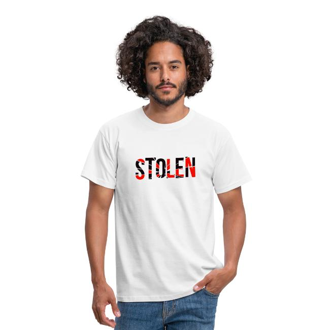 Stolen T Shirt Red and Black logo